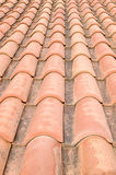 New roof with orange ceramic tiles Stock Image