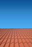 New roof of sheet metal Stock Photos