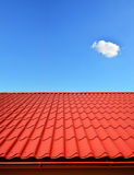 New roof of sheet metal Stock Photo