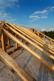 New roof structure on a house Royalty Free Stock Photos