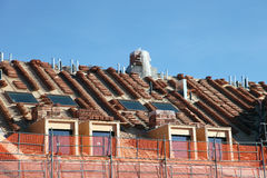 New roof about to be tiled Stock Photography