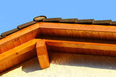 New roof top detail with ceramic tiles Royalty Free Stock Photo