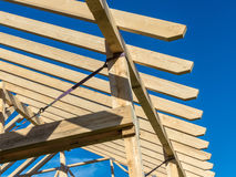 A new roof truss Royalty Free Stock Photos