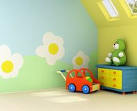 New room for a baby stock illustration