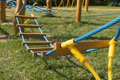 New rope bridge Stock Photos
