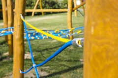 New Rope climbing frame Royalty Free Stock Photo