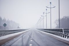 New route in Zelenogradsk, Kaliningrad Stock Photos