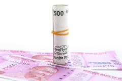 New 500 and 1000 rs notes. New 500 and 1000 rupees notes Royalty Free Stock Photos