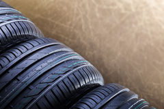 New rubber car tires closep Stock Photography