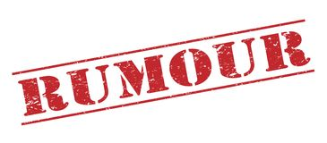 New in rumour  stamp. New in rumour  red stamp isolated on white background Royalty Free Stock Photo