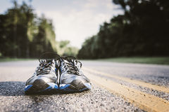 New Running Shoes Stock Photography