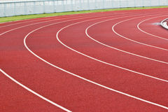 New running track and grandstand. Stock Images