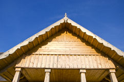 New rural wooden house fragment stock image