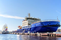 The new Russian diesel-electric icebreakers MURMANSK on the quay at the English Embankment in St. Petersburg Stock Image