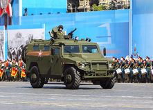 New russian military all terrain truck on the military parade Royalty Free Stock Image