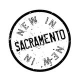 New In Sacramento rubber stamp Royalty Free Stock Image