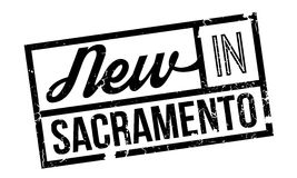 New In Sacramento rubber stamp Stock Image