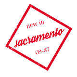 New In Sacramento rubber stamp Royalty Free Stock Photos