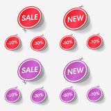 New and sale labels Royalty Free Stock Images