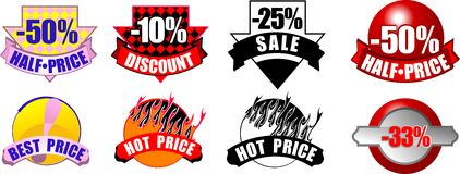 New Sale Retail Info Icons stock illustration