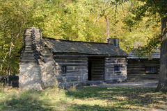 New Salem Log Cabin Stock Images