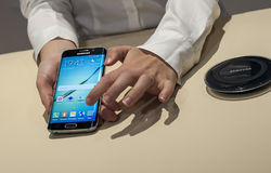 NEW SAMSUNG GALAXY S6 PRESENTATION Stock Images