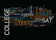 The New Sat Text Background  Word Cloud Concept Royalty Free Stock Images