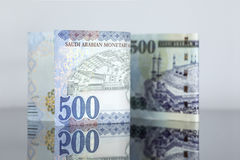 New Saudi Riyal notes vs Old one Stock Photography