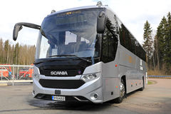New Scania Interlink Bus on Asphalt Yard Royalty Free Stock Photo