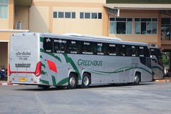 New Scania 15 Meter bus of Greenbus company. Royalty Free Stock Images