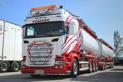 New Scania Tank Truck of SFK Kuljetus Stock Photo