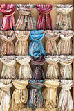 New Scarfs. A new colorful scarfs, fashion Stock Photos