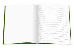 New school copybook, exercise book, notebook - white background Stock Images