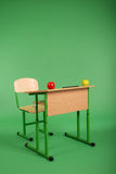 New school desk and chair Royalty Free Stock Photography