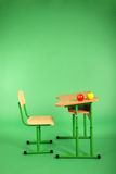 New school desk and chair Stock Photo