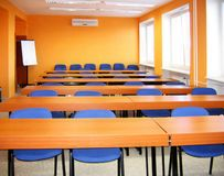 New schoolroom. For cub students stock photo
