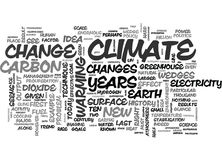 A New Science For A New Climate Word Cloud Stock Images