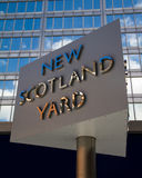 New Scotland Yard Sign, Metropolitan Police Royalty Free Stock Photos