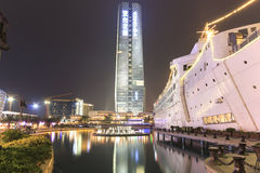 New Sea World Plaza, one of the landmark of Shenzhen, at night Royalty Free Stock Photography