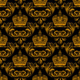 New seamless decor gold Royalty Free Stock Photography