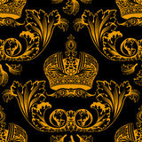 New seamless decor gold ornament Royalty Free Stock Image