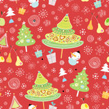 New seamless pattern of trees Royalty Free Stock Photography