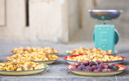 New season dates for sale at a market. New season dates for sale on a street market in Nizwa Stock Photography