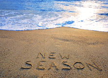 New season sign Stock Photography