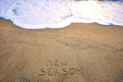 New season sign Royalty Free Stock Photo