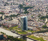The new seat of the European Central Bank in Frankfurt Royalty Free Stock Images