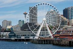 New Seattle Waterfront Royalty Free Stock Photo