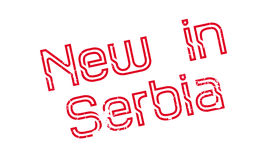 New In Serbia rubber stamp Royalty Free Stock Photography