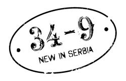 New In Serbia rubber stamp Royalty Free Stock Photo