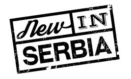 New In Serbia rubber stamp Stock Photo